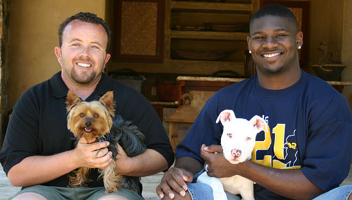 Photo of LaDanian Tomlinson & his friend athlete  Mike Stone - United States